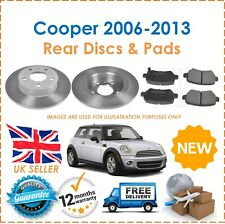 For Mini R56 Cooper One 2006-2013 Two Rear Solid 259MM Brake Discs & Brake Pads