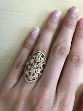 Jacob & Co Diamond 18K Rose Gold Flower Daisy Ring, 1.67ct, Size 6, MSRP $7,400