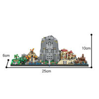 MOC The Hobbit Skyline Architecture Building Blocks Adult Aducational Gifts Toys