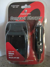 Pearstone Compact Battery Charger for Nikon EN-EL1/Minolta NP-800