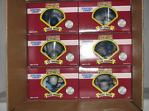 """Starting Lineup Cooperstown New Case 12"""" NOS - Ruth, Cobb, Gehrig, Young, Wagner"""