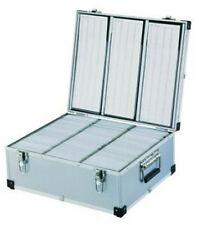 More details for 630 dj aluminium flight storage carry cd dvd disc case box numbered sleeves