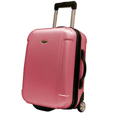 """Traveler's Choice Pink Freedom 21"""" Carry-on Rolling Luggage Suitcase Travel Bag"""