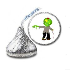 108 ZOMBIE Halloween Party Favors Stickers Labels for Hershey Kiss