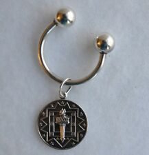 Screw Ball Key Holder with Olympic Torch Charm 10 grams  .925 Sterling Silver