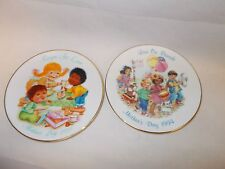 "Two Avon Mother Day Collector Plates, 1993 & 1994 ""Love On Parade & Recipe For L"