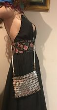 💞 Mimco Rare Metallic Evening 21x16 Cm Pouch Wallet Clatch Handbag + Dust Bag