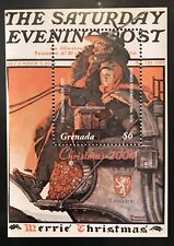 GRENADA NORMAN ROCKWELL CHRISTMAS S/S 2004 MNH THE LONDON COACH 1925 ART STAMPS