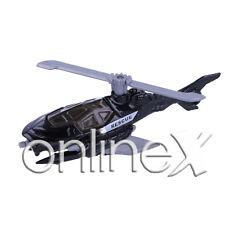 Helicóptero Policía Negro Juguete Escala 1:64 Niños  a1816
