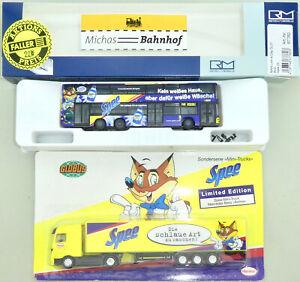 Spee MAN Lion's City DL07 BVG Bus Rietze 67760 H0 1:87 Doppeldecker +LKW Blister