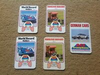 Vintage Top Trump title cards selection job lot 1970's/80's Buggies German Cars