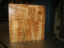 FIGURED WESTERN BIG LEAF MAPLE WOOD TURNING LUMBER 9 x 9 x 2-1/2 BOWL BLANK