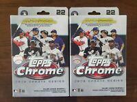 2020 Topps Chrome MLB Baseball UPDATE SERIES Hanger Box Factory Sealed - LOT x 2