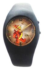Collectible Disney's Tigger Moving Hands Watch/ Black Plastic Band MU0391