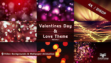 9 Video Backgrounds 4K / Love & Valentine's Day / worship & holiday stock video