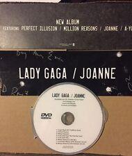 Lady GAGA promo sticker + Free DVD Million Reasons Perfect Illusion Super Bowl