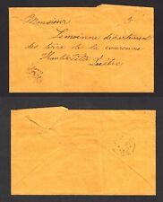CANADA ST-PIERRE DE MONTMAGNY LC 1870 STAMPLESS COVER SENT TO QUEBEC C.E.