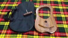 More details for traditional irish lyra harp 10 metal strings rosewood key case/lyre harfe/arpa