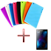 """UI Silicone Gel Rubber Soft Case Cover + Film For 7"""" Lenovo Tab 2 A7-30 Tablet"""