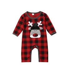 Christmas Newborn Baby Girl Boy Clothes Deer Romper Bodysuit Jumpsuit Outfits