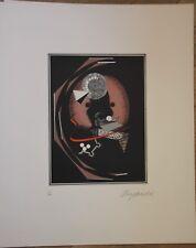 Lithographie d' Alain LE YAOUANC signée numérotée Omphalos 1970 géométrie **