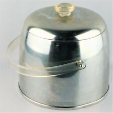 Vintage Mid Century Modern Ice Bucket with Clear Lucite Handle