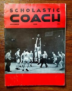 1936 SCHOLASTIC COACH AMERICAN OLYMPIC BASKETBALL FINALS COVER MSG -VINTAGE/GOOD