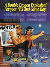 Nintendo NES / Game Boy DOUBLE DRAGON video game magazine print ad page