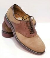 G.H. Bass & Co. Mens Size 8D Buchanon Suede Leather Oxfords 2 toned Brown Shoes