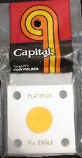 "CAPITAL PLASTICS: 2""X 2"" 1/10 OZ PLATINUM EAGLE COIN DISPLAY W/FREE SHIPPING!!"