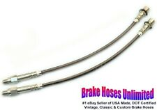 FRONT STAINLESS BRAKE HOSES Lincoln Versailles 1977 1978 1979 1980