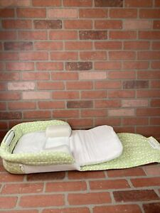 Baby Delight Snuggle Nest Mint Green and White