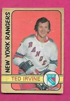 1972-73 OPC # 212 RANGERS TED IRVINE HIGH # GOOD CARD (INV# C2916)