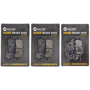 NICHE Brake Pad Set for Suzuki GSXS1000 GSXS1000F 59100-14850 Complete Organic