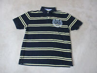 VINTAGE Tommy Hilfiger Polo Shirt Adult Extra Large Blue Yellow Crest Mens 90s