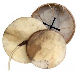 Schamanentrommel Ø 40 cm Rahmentrommel Rund Ziegenhaut Shaman Drum inkl. Stick