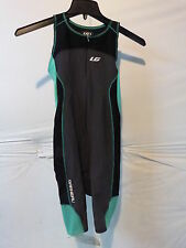 Louis Garneau Women's Comp Triathlon Suit Xl Grey/Green Retail $105