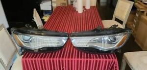 2016 2017 2018 AUDI A6 S6 LEFT + RIGHT LED HEADLIGHT XENON COMPLETE SET OEM USED