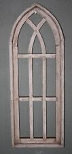 "Wooden Antique Style Church WINDOW Frame Primitive Wood Gothic 27"" Shabby"