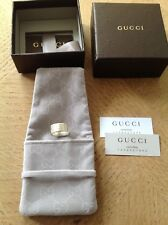 Genuine Gucci sterling silver band ring. Size P