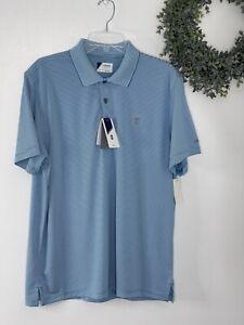 IZOD Polo Golf Collared Shirt Men Large Blue NWT