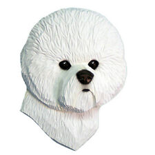 Bichon Frise Head Plaque Figurine
