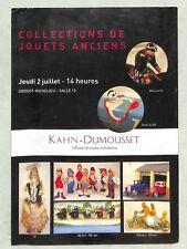"""CATALOGUE DE VENTE AUCTION """" JOUETS ANCIENS / ANTIQUE TOYS """""""