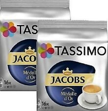 2 Packs Tassimo Jacobs Médaille d´Or T Discs Pods 32 T Discs 32 Drinks Medaille