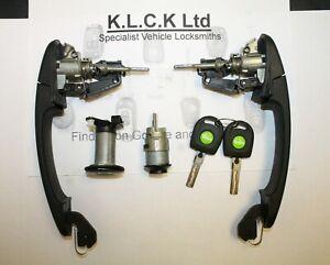VW SEAT SKODA  Lockset - Valeo Original - Keys HU66 ID48 Set 1