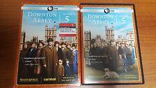 PBS Downtown Abbey Season Five 5 (DVD, 2015, 3-Disc Set +Bonus CD) free shipping
