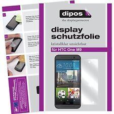 2x HTC One M9 Schutzfolie klar Displayschutzfolie glasklare One M 9 Folie dipos