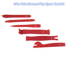 Car Interior Trim Door Panel Dash Centre Console Pry Open Tool Red Nylon 6Pcs