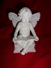 Roman Inc Seated Angel Reading A Book Candle Holder #77137 New