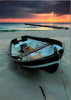Boat ocean ' modern unposted new postcard by